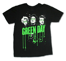 "GREEN DAY ""DRIPPING PAINT"" BLACK SLIM FIT T-SHIRT NEW OFFICIAL ADULT t shirt for man"