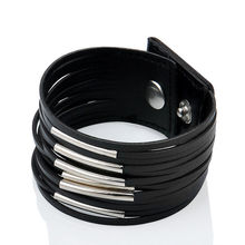Buy Fashion Leather Bracelet Punk Style Multilayer Vintage Bracelets & Bangles Bracelet Cuff Women Wristband Female Pulseras for $1.14 in AliExpress store