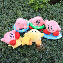 1set 5pcs/set 5inch Super Mario Bros Kirby Plush Toy Stuffed Doll Toys Retail Free shipping