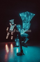 Event costumes77 led  Party Supplies led robot light up suits  rgb glowing stage led light show