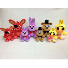 Christmas Toy Gift Five Nights At Freddys Stuffed Toys 12inch Red Fox Purple Rabbit Brown Bear Yellow Chicken Model Plush Doll(China)