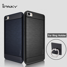 iPaky for Xiaomi Mi5 Case Cover Soft TPU Silicone Cover for Xiaomi Mi 5 M5 Case Drawing Pattern + Ring Holder Protective Shield