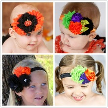1PC girls children halloween hair headbands accessory for baby head wrap headwear infant turban elastic hair bands hairornament