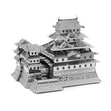 Himeji Castle 3D Metal Puzzle DIY Assembly Model Buildings IQ Jigsaw Puzzle Educational Learning Kids Toys For Children/Adult(China)