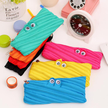 Hor Little Monster Pencil Case School Student Supplies Cute Kawaii Pen Bag For Girls Stationery Box Holder Storage Pencilcase