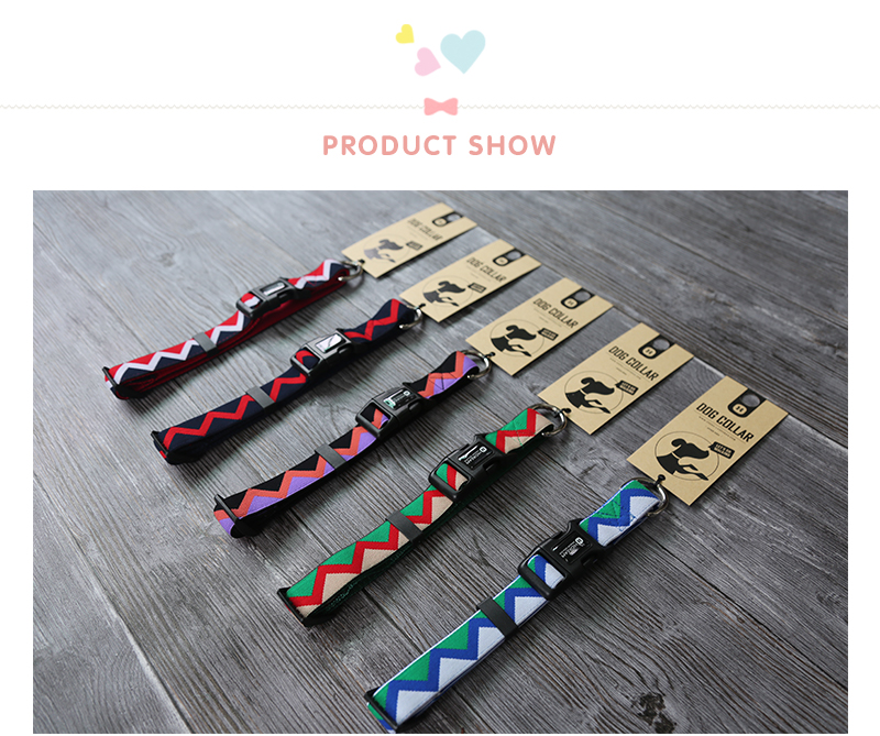 Outdoor Nylon Dog Collars Mascotas Pet Dogs Neck Straps Puppy Led Dog Collar Strong Colorful Wave 40-62CM Adjustable HD002004 (8)