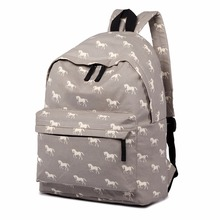 Miss Lulu Women Backpack Horse Backpacks for Teenage Girls Children Canvas School Bags A4 Laptop Boys Men Rucksack Bag E1401