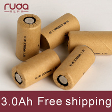 3000mAh 10Pcs high power battery cell,power tool battery,Power Cell,Ni Mh dicharge rate 10C,rechargeable battery,battery cell(China)