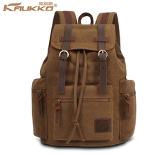 KAUKKO Latest Vintage Backpack Fashion Canvas creeper backpack Leisure Travel School Bags Unisex Laptop Backpacks Men Mochilas