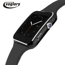 X6 Smart Watch Bluetooth Smartwatch Support Camera SIM TF Card GPRS Facebook Twitter for iPhone Android Phone PK IWO 2 U8