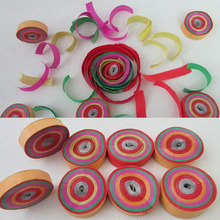 50pcs/lot  Dia.4.5cm colorful Hand Throwing Party Popper Frisbee Paper Confetti