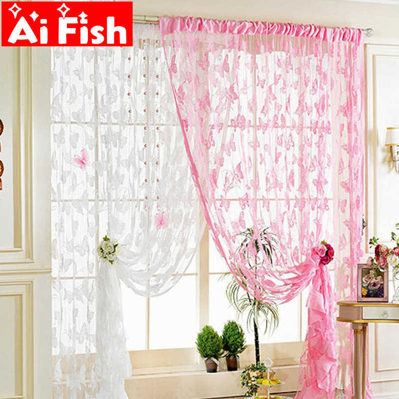 Hot Sale Muticolor Cheap Line Butterfly Yarn for Bedroom/Living Room String Kitchen 100cm*200cm Door Curtain Decoration AP246-30