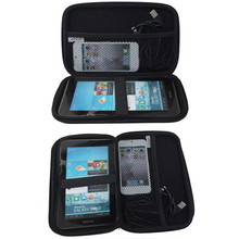 EVA PU + Polyester velvet Black Hard Shell Outer Carry Case for 7 Inch GPS Navigation(China)