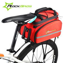 ROCKBROS Bike Bags Mountain MTB Folding Cycling Bicycle Rack Bag Rear Trunk Carry Bag Backpack Accessories Riding Travel Bags