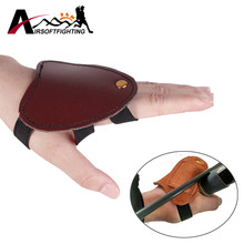 Left Hand Guard Archery Shooting Leather Glove Protector Traditional Shooting Glove Fits for Hunting Recurve Bow(China)