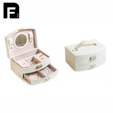 Cosmetics Case Functional Women Necklace Toiletries Jewelry Organizer Box Train Professional Makeup Case Beauty Vanity Bag