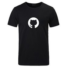 Hot new t shirt github open source programmer program ape programming geek GEEK cotton shirt short sleeve T-shirt(China)