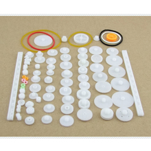 75pcs/Set Plastic Crown Single Double Worm Grear Belt Pulley DIY Tool for Robot Accessories