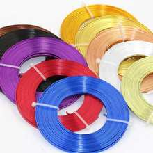 5m/piece 3mmX1mm (3mm width 1mm thickness) Flat aluminum wire Aluminum crafts materials(China)