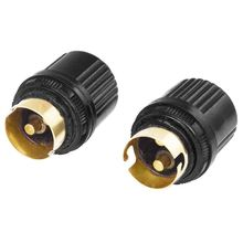 2 Pcs Black Plastic Housing AC 250V 4A Brass B22 Light Bulb Lamp Holder(China)