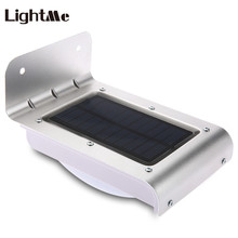 Lightme Solar LED Wall Lamp Energy Saving Fence Light Infrared Motion Sensor Garden Park Landscape LED Wall Light 2017 New Hot