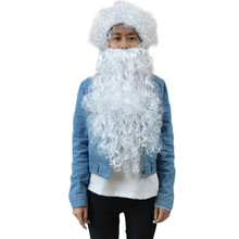 Santa Beard And Wig Set Christmas Santa Claus Costume Cosplay Wig  *natal navidad christmas*30 2017 hot sale