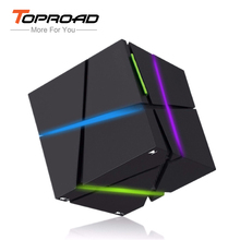 TOPROAD Portable Bluetooth Speaker with LED Light Built-in 500mAh Battery Stereo Sound Box Mini Mp3 Player Subwoofer Speakers