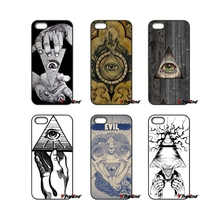 Illuminati Symbol Eye Pyramid Fashion Phone Case For iPhone 4 4S 5 5C SE 6 6S 7 Plus Samsung Galaxy Grand Core Prime Alpha