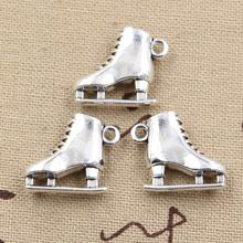 5pcs Charms ski boots 21*18*6mm Tibetan Silver Pendant Findings Accessories DIY Vintage Choker Necklace