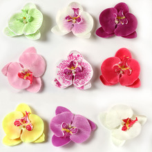 9pcs/pack Charming Hair Accessories Moth Orchid Flower Silk Decoration Kids Girls Flower With Clip Headband Headwear(China)