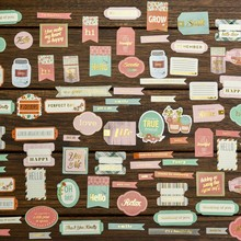 70pcs Perfect Day Cardstock Die Cuts for Scrapbooking/Card Making/Journaling Project DIY