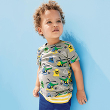 Baby Boy Tops Children T shirts Fille 2018 Brand Kids Summer T-shirt for Boys Clothes Animal Cotton Clothing Boys Tee Shirt(China)