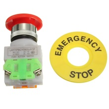 New Arrival Hot Red Mushroom Cap 1NO 1NC DPST Emergency Stop Push Button Switch AC 660V 10A Most Popular