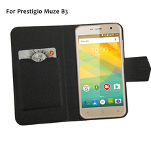 5 Colors Hot! Prestigio Muze B3 PSP 3512DUO Phone Case Leather Cover,Fashion Luxury Full Flip Stand Leather Phone Shell Cases