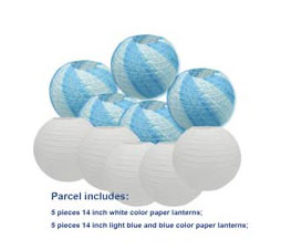 "20 pcs 6""-12"" White Paper Lanterns Chinese Japanese Paper Lanterns for Wedding Party Halloween Hanging Diy Decor Favor 12"