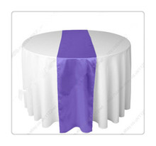 36 piece  gadbury purple table  runners  For Wedding  FREE SHIPPING  chemin de table argent
