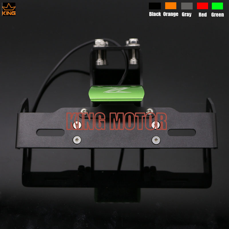 For KAWASAKI Z1000 Z1000SX NINJA 1000 Motorcycle Fender Eliminator Registration Plate Bracket License Plate LED Right  Green<br><br>Aliexpress