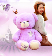 high quality goods huge 120cm purple teddy bear soft plush toy hugging pillow .christmas gift d1155(China)