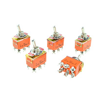 DPDT ON-OFF-ON 3 Positions Latching 6 Screw Terminals Toggle Switch AC 250V 15A 12mm Panel Mounting(China)