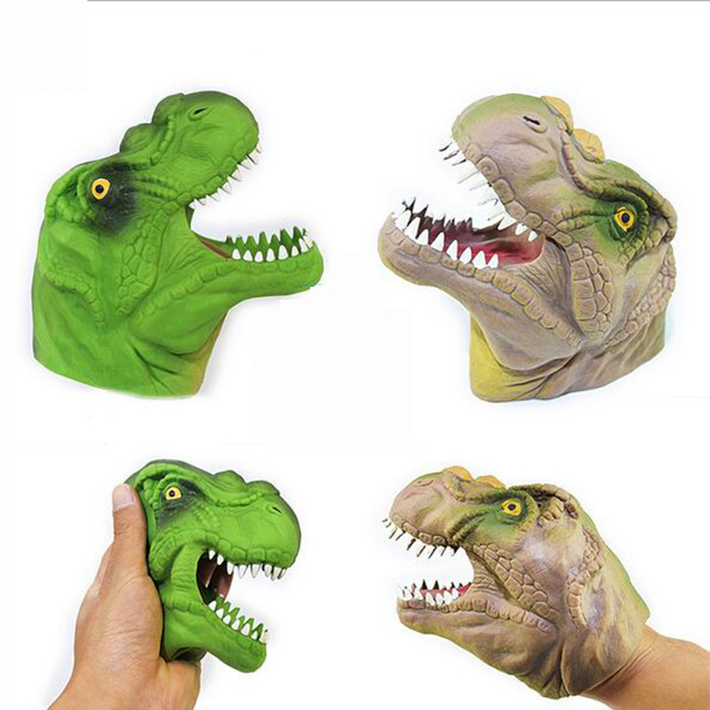 Dinosaur Animal Hand Puppet Toys Children Doll Quality Soft Vinyl PVC Classic Children Figure Toys Kids Gifts Collection