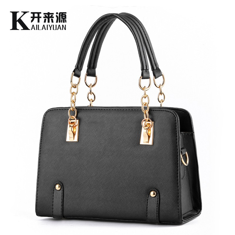 100% Genuine leather Women handbags 2017 New wave of female chain bag fashion handbags shoulder bag Messenger a generation(China)