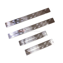 Accessories Stainelss Steel  Outer  Door sill Scuff Plate Cover Trim 4pcs   for Toyota C-HR 2016-2017