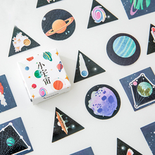 40pcs Beautiful Universe Colorful Space Planet Stickers Scrapbooking Diary Planner Journal Decorative Sticker Gift Packing Label