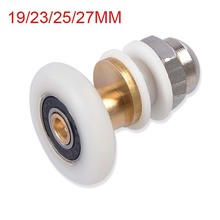 Free shipping 1 piece brass single eccentric shower door rollers shower wheels applied to 4-6mm shower cabin CP190-1(China)