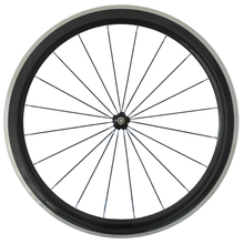 Carbon Fiber Road Bike Wheels Alloy wheels Front Wheel 700C Clincher Wheelset Alluminum Braking Surface 50mm Rear Wheel 23mm(China)