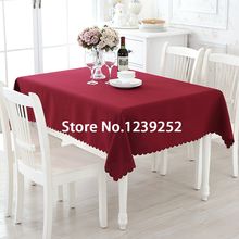 "New 3 Colors Polyester 63""x63"" Table Cloth Nappe de table Wedding Tablecloth Party Table Cover Dining Table Linen"