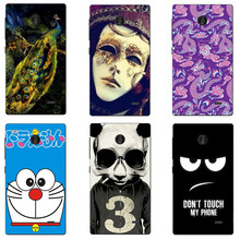 Cute Cartoon Case For Nokia X Dual SIM A110 RM-980 Cover HD UV Printing Hard Plastic Printed Phone Back Shell Capa Funda Newest