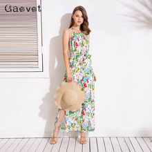 Buy Gaovot 2018 Summer Spring Women Dresses Flowers Printed Halter Backless Sexy Long Dress Female Maxi Dresses Tunic Vestido S-XL