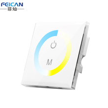 DC12-24V Wall Type White LED Touch Panel Controller Color Temperature Control For Cold/Warm 5050 3528 LED Strip LED Light