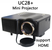UNIC Multidimension UC28+ household mini LED projector Support computer TV USB flash SD card and DVD Proyector(China)